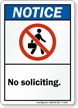 Notice No Soliciting Sign
