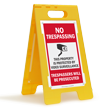 No Trespassing FloorBoss XL™ Free-Standing Sign