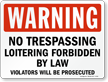 No Trespassing Warning Sign
