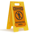 FloorBoss XL™ Free-Standing Sign - High-Impact Plastic 25in.H x 12in.W