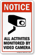 Video Surveillance Window Decal