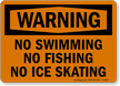 No Skating Warning Sign / Prohibition Warning Sign