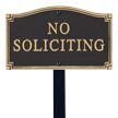 No Soliciting GardenBoss™ Statement Plaque With Stake