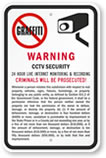 CCTV Security Warning Sign
