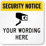 Customize a Video Surveillance Sign